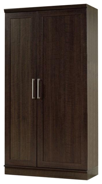 Multi Purpose Living Room Kitchen Cupboard Storage Cabinet Armoire Mocha