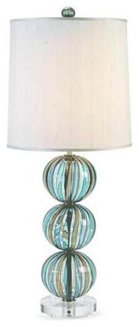 Bocce Stripe Glass Table Lamp