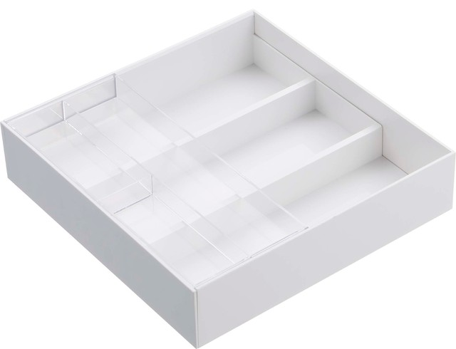 Tower Expandable Drawer Organizer, White