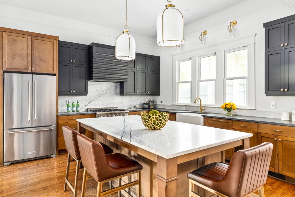 Kitchen - transitional kitchen idea in Atlanta