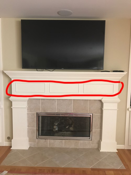 The previous owners of our house set up their tv above their fireplace and had a sound system built in around it so naturally we placed our tv there as well. We started to notice the tv was too high and our neck was starting to hurt. Recently we just swit