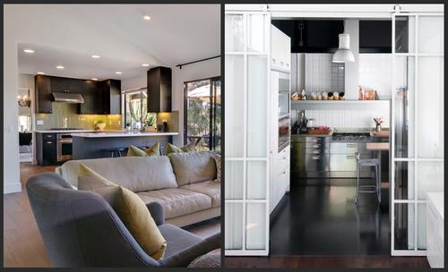 Cucina separata dalla sala