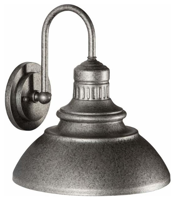 Led 1-Light Outdoor Wall Sconce, Antique Pewter.