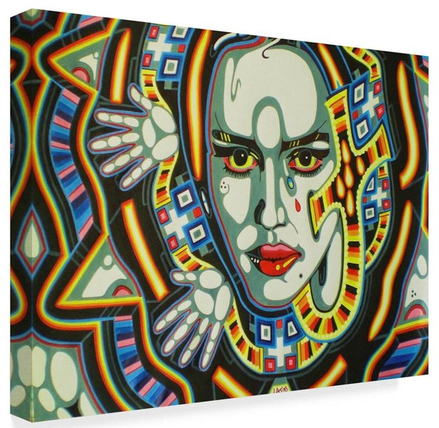 Abstract Graffiti Egypt Canvas Art 32 In W X 24 In H