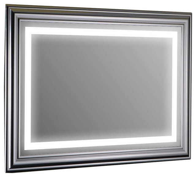 Eviva Lite Wall Mounted Modern Bathroom Vanity Backlit Lighted Led Mirror.