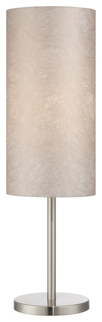 Secia 1-Light Table Lamps, Polished Steel.