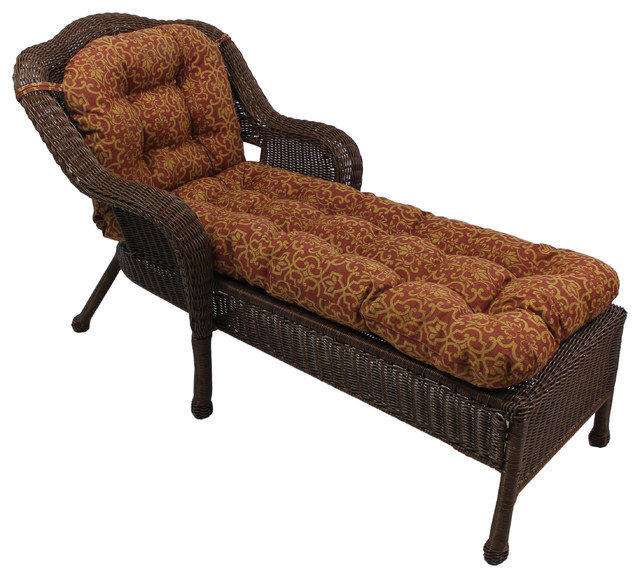 U Shaped Outdoor Tufted Chaise Lounge Cushion Vanya Prika
