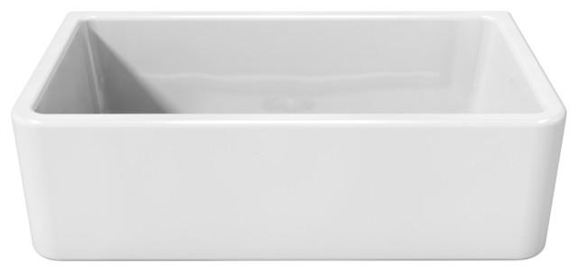 Latoscana Reversible Fireclay Farmhouse White Apron Sink ...