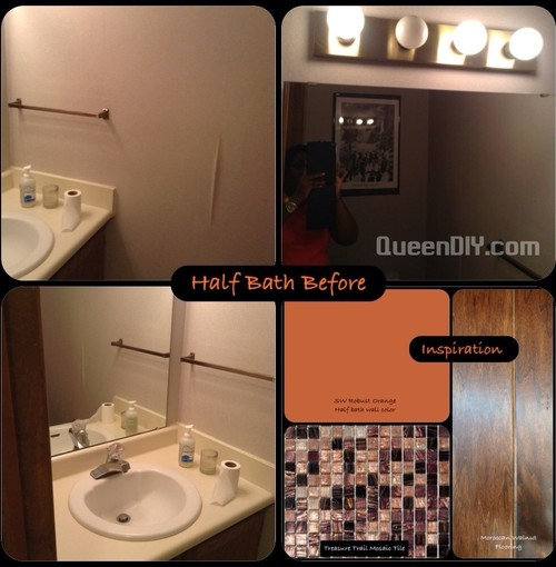 Bathroom Extreme Makeover diy half bath extreme makeover