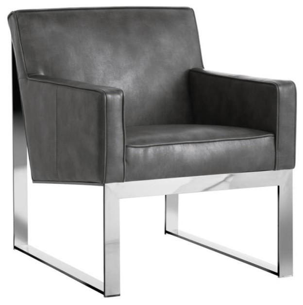 Stainless Steel Armchair Contemporary Armchairs And Accent
