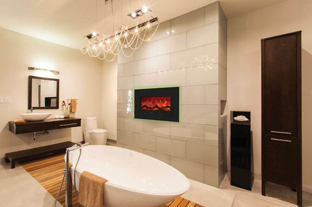 """Enhanced Series Wall Mount/built-In Electric Fireplace, 26""""."""