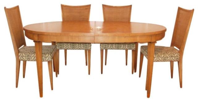 Mid Century John Widdicomb Dining Table 6 Chairs