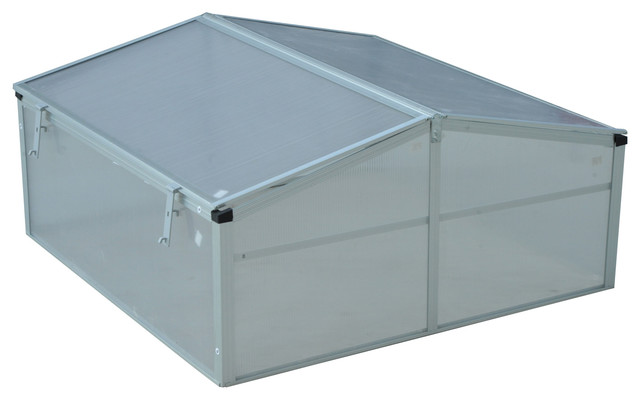 Outsunny 39 Aluminum Vented Cold Frame Greenhouse.