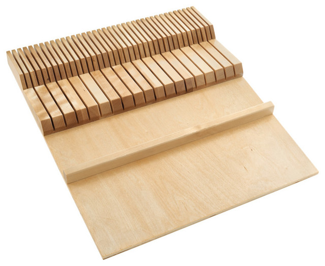 Double Knife Block Drawer Insert-Wood