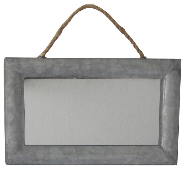 Cheungs Home Decorative Rectangular Mirror With Galvanized Metal Frame