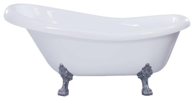 Gibson Oval Claw Foot Slipper Acrylic Bathtub  White  67  victorian bathtubsGibson Oval Claw Foot Slipper Acrylic Bathtub  White  67  . Clawfoot Baby Bath Tub. Home Design Ideas