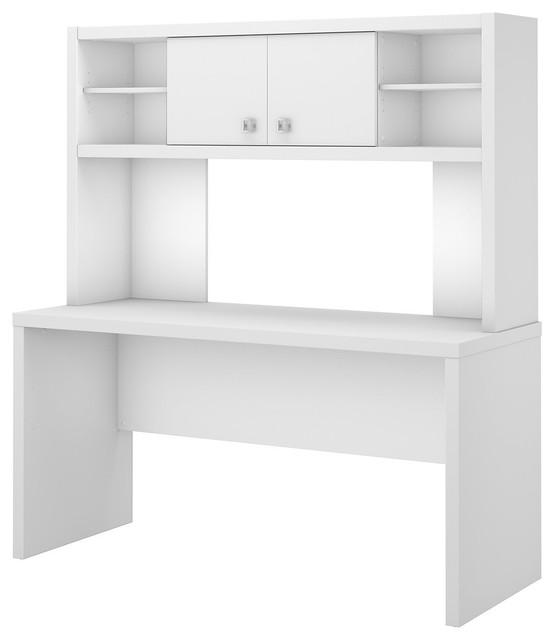 Echo 60w Credenza Desk With Hutch Pure White