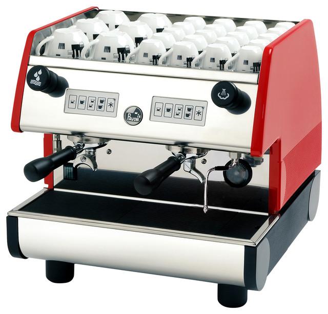 La Pavoni 2 Group Volumetric Espresso Machine, Red