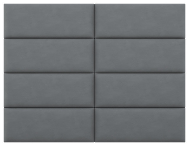 new products a803b 587b3 VANT Upholstered Headboards, Accent Wall Panels Suede Gray, 60
