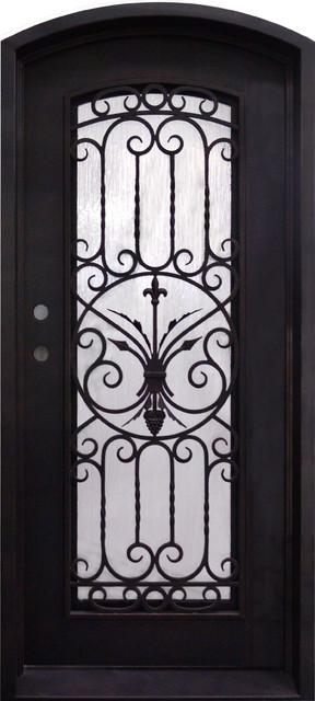"""Entry Iron Single Door, 114""""x45.5""""."""