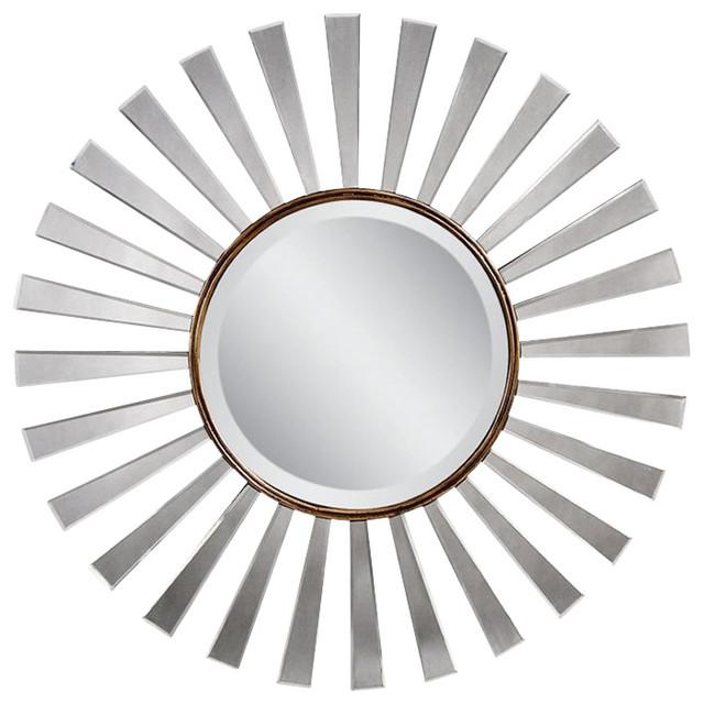 Fiorenza Sunburst Wall Mirror Bronze Transitional