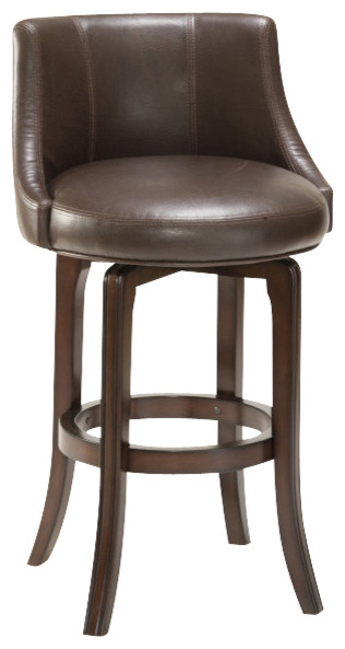 Hillsdale Napa Valley Swivel Stool In Brown Traditional Bar