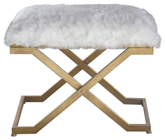 Surprising Uttermost Farran Fur Small Bench Forskolin Free Trial Chair Design Images Forskolin Free Trialorg