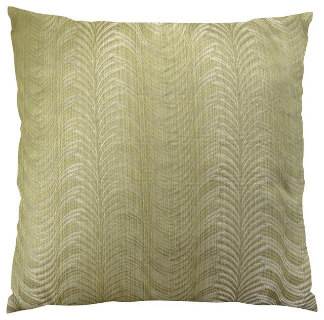 Plutus Delicate Waves Handmade Throw Pillow Contemporary