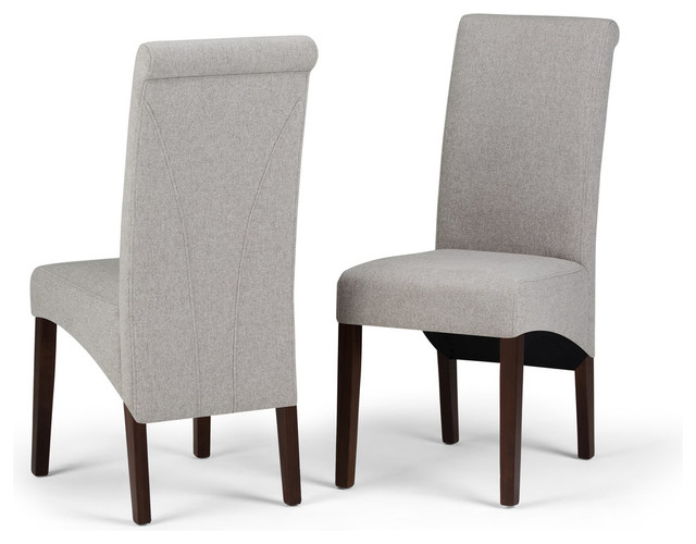 Avalon Deluxe Parson Dining Chair, Set of 2, Cloud Gray