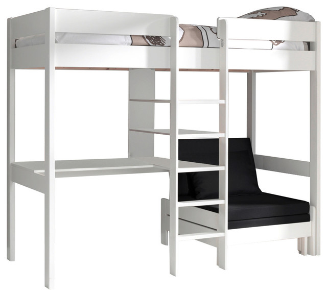 High Sleeper With Sofa Bed White
