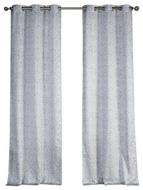 Krisna Grommet Pair Panel Gray-Taupe.