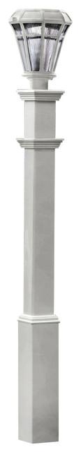 5x5x74 Sturbridge Light Post, Lamp Not Included, White.