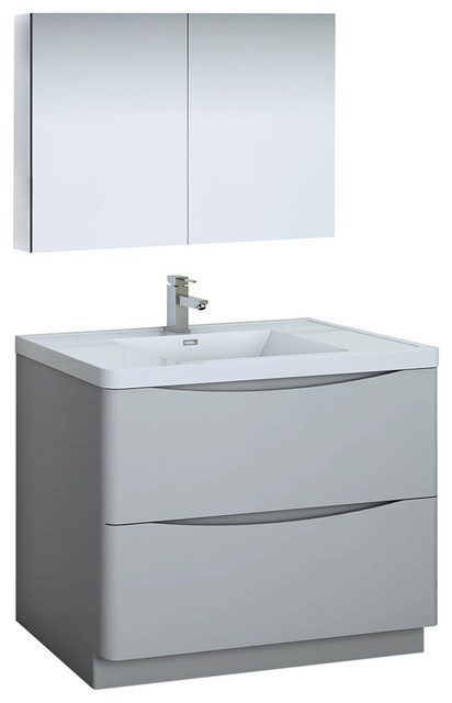 Gray Free Standing Bathroom Vanity