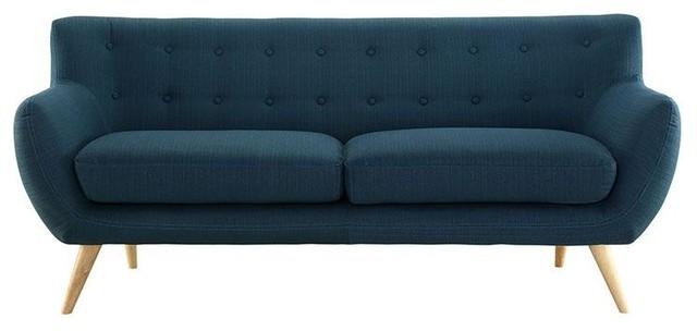 Jamon Upholstered Sofa In Azure
