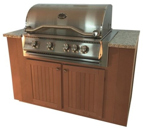 Sequoia Series Outdoor Grill Kitchen With Cabinets, Natural Gas.