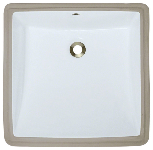 Polaris P0322uw Rectangular Porcelain Sink, Triple Glazed.