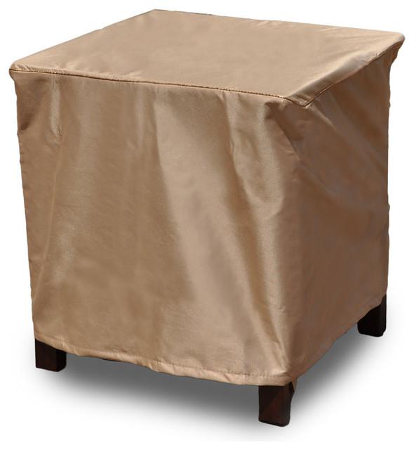 """EmpirePatio Signature Tan 22"""" Square Table Ottoman Cover 20""""x22&qu"""