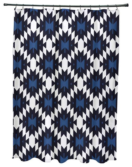 E by design 71x74 jodhpur kilim geometric print shower curtain shower curtains houzz - Ways decorating using kilim print ...