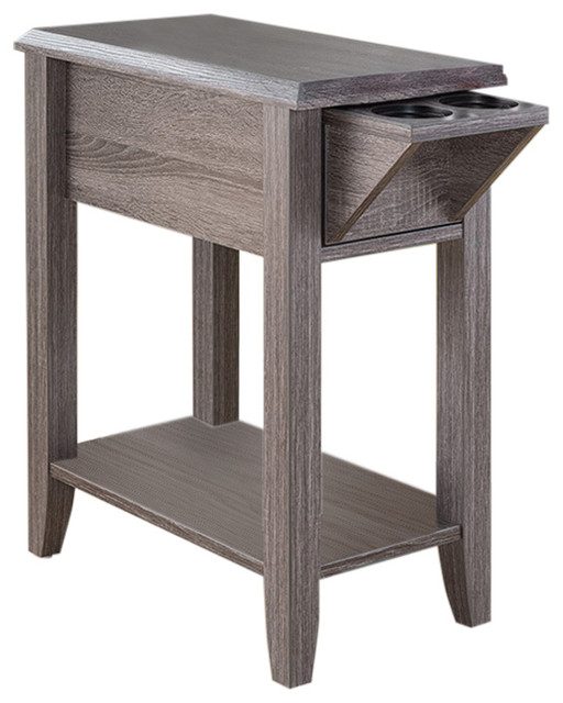 Side Table Storage Drawer And Cup Holders Transitional Tables End By Sintechno Inc - Sofa Side Table With Cup Holder