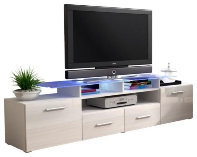 Evora White Gloss Tv Stand