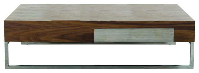 Modrest Agate   Modern Walnut Coffee Table Contemporary Coffee Tables