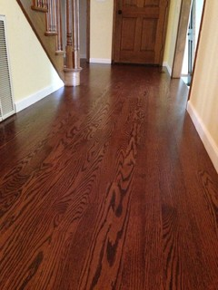 Red Oak With Red Mahogany Stain
