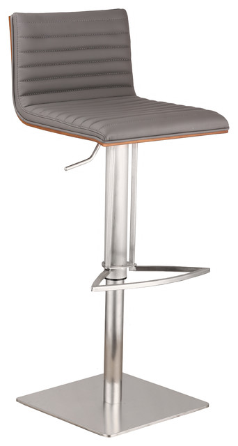 Brom Adjustable Bar Stool Contemporary Bar Stools And