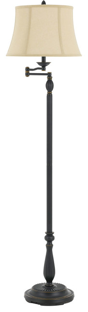 Barnwell 1-Light Floor Lamps, Dark Bronze.