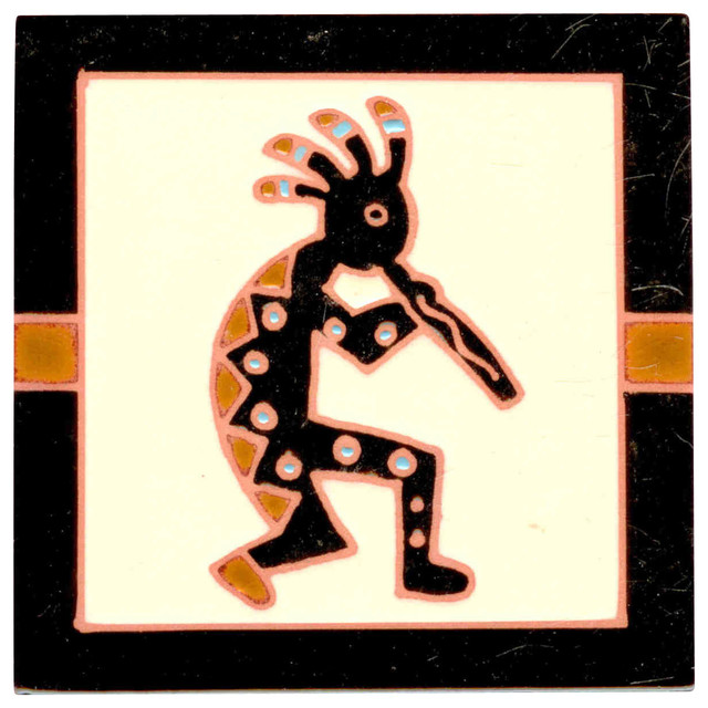 Kokopelli Flute Player Coaster Decorative Tile 4 X4 Square