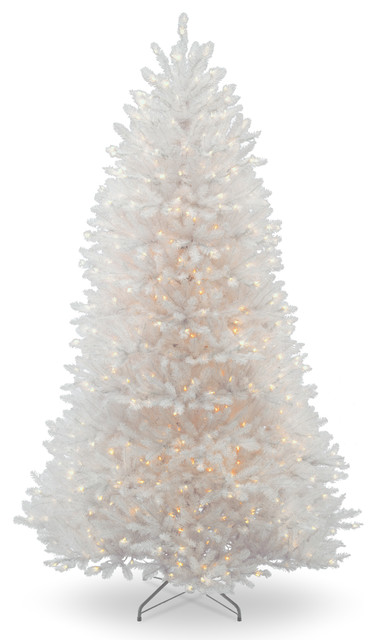 Dunhill(R) White Fir Tree With Clear Lights, 7 Ft. Contemporary