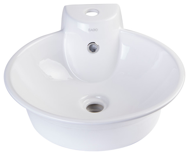 above mount bathroom sinks ceramic above mount bath vessel sink with single 15350