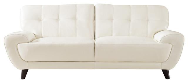 Luzan Leather Sofa, Ivory.