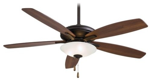 "Minkaaire 52"" 5 Blade Indoor Ceiling Fan With Blades And Light Kit Included."