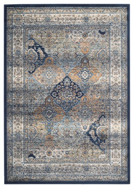 Safavieh Ales Woven Rug, Navy And Ivory, 5&x27;1x7&x27;7.